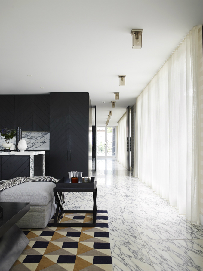 Contemporary House In A Palette Of Predominantly Black And White 8