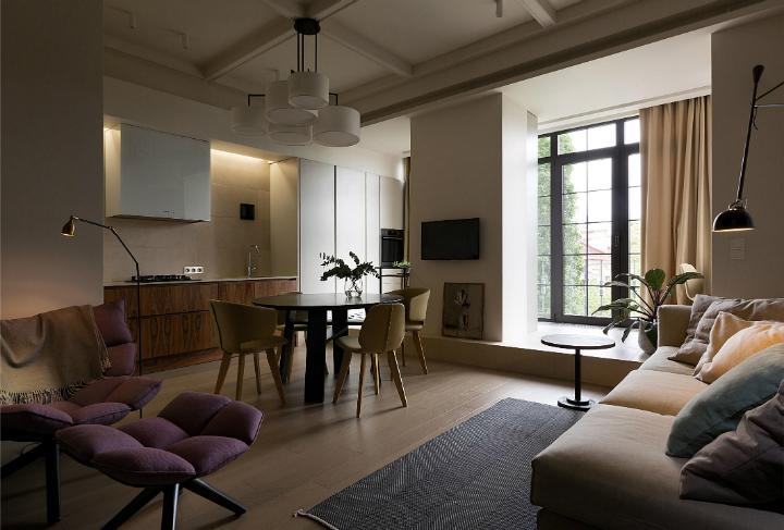 Contemporary Small Apartment Design