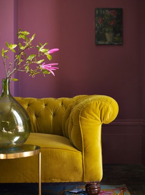 Decorating With Berry Hues and Mustard Colors 2