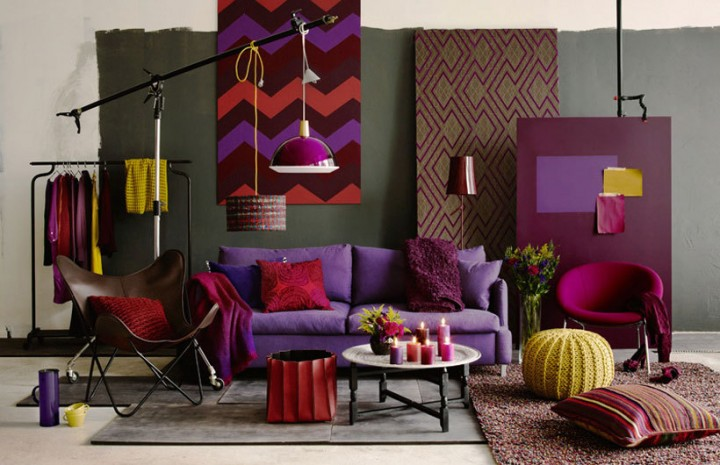 Decorating With Berry Hues And Mustard Colors