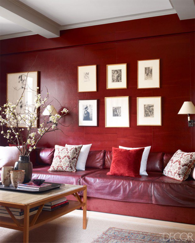 Decorating With Berry Hues and Mustard Colors 49