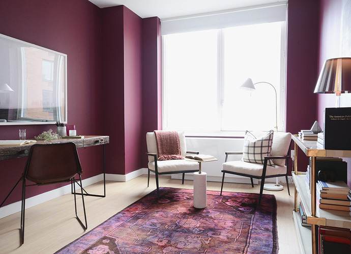Decorating With Berry Hues and Mustard Colors 51