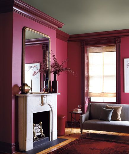 Decorating With Berry Hues and Mustard Colors 55