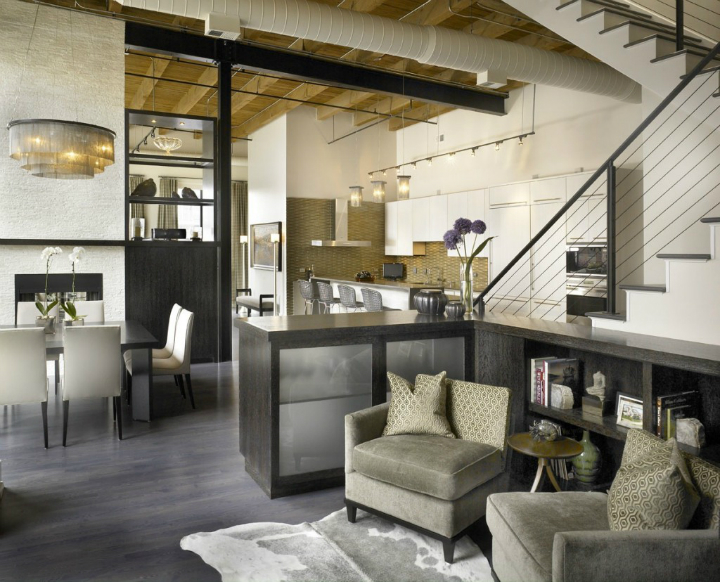 Dramatic Yet Comfortable Urban Loft 4