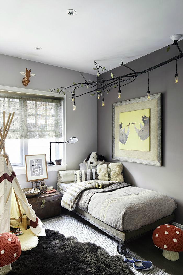 Gray Wild Nature Boys' Room Idea