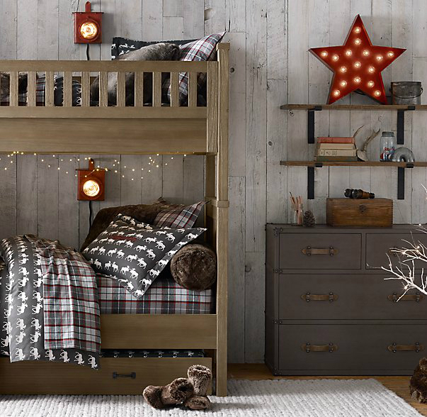 Gray Boys' Room Idea with Stars
