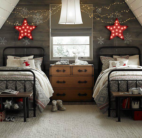 Gray Boys' Room Idea with Stars 2
