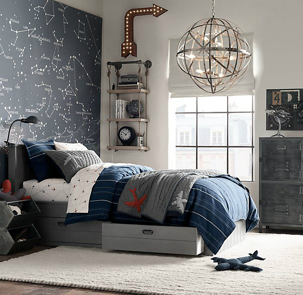 Astronomy Gray Boys' Room Idea