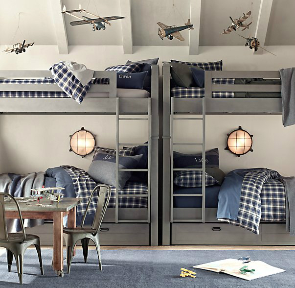 Gray Boys' Room Idea with airplanes