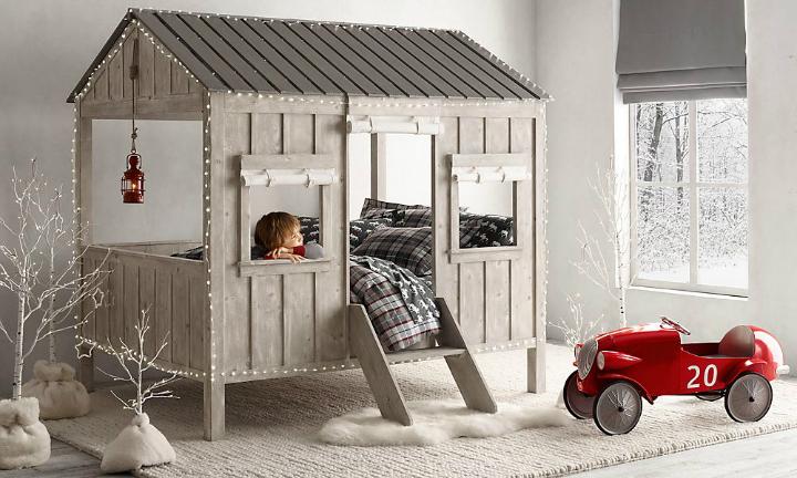 Gray House Boys' Room Idea