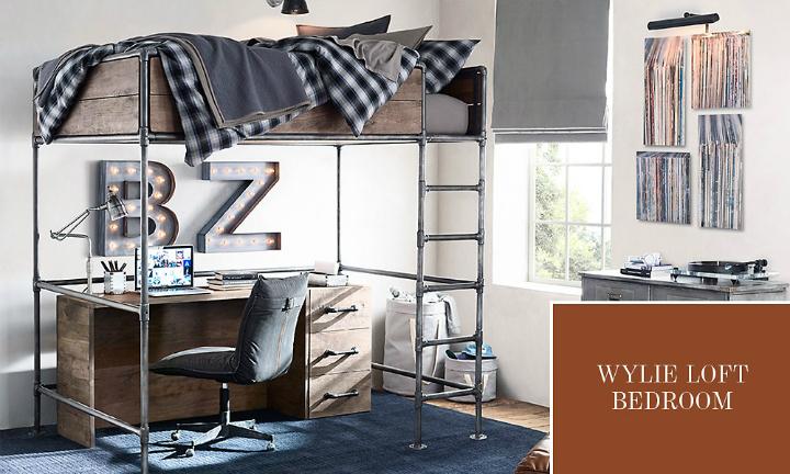 Gray Boys' Room Idea with desk