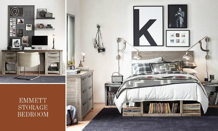 Gray Storage Boys' Room Ideas 22