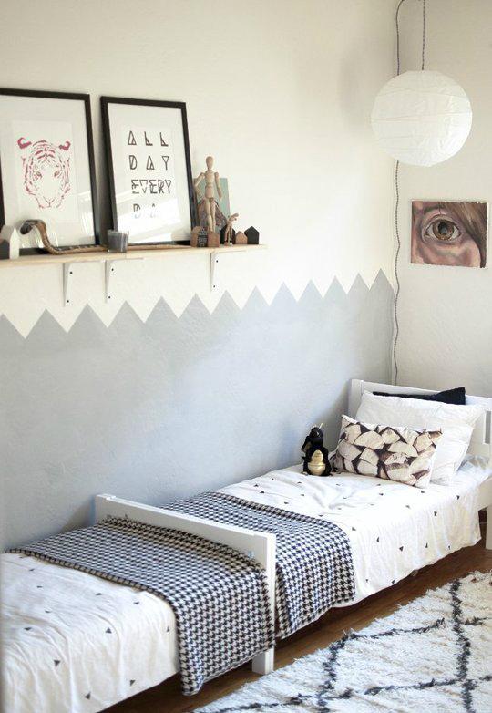 Innovative Gray Boys' Room Idea