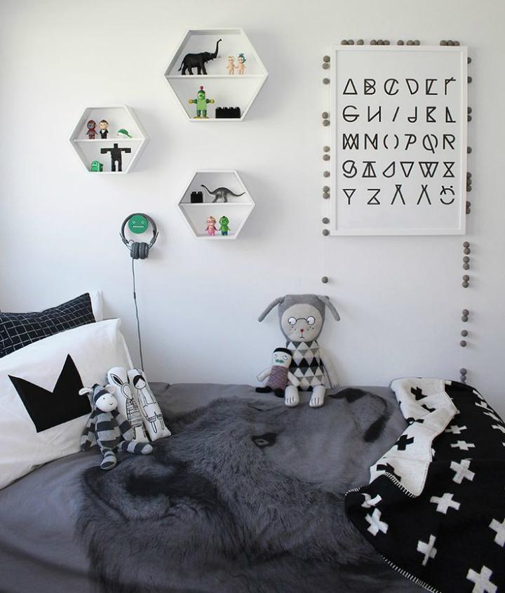 Gray Boys' Room Idea with Animals 2
