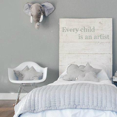 Elephant Gray Boys' Room Idea