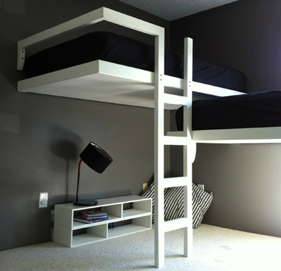 Gray Boys' Room Idea with Black and White Details