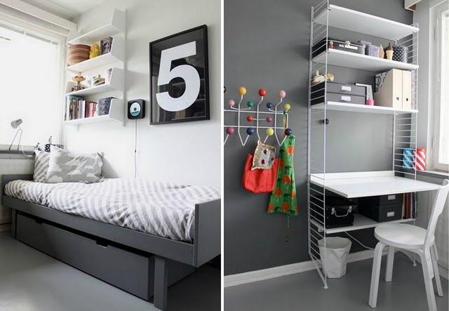 Gray Boy's Room Idea with a big 5