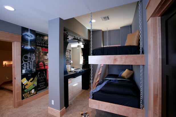 two floor beds in grey tones