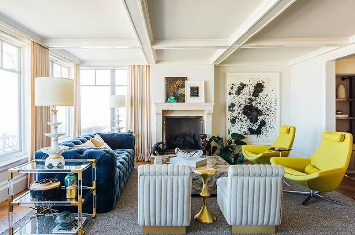 contemporary elegant bold house interiors