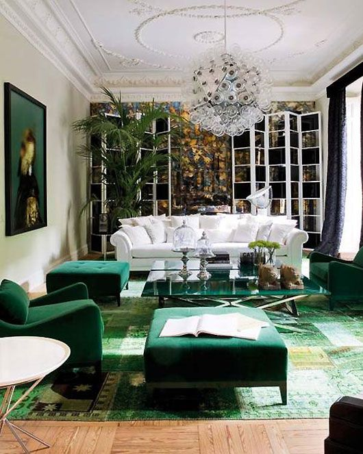 Decorating with Emerald and Blue Topaz 15