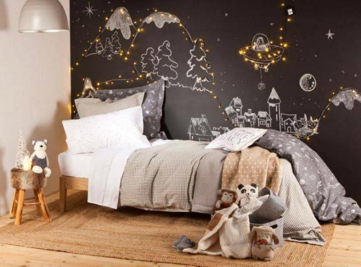 Christmas Gray Boys' Room Idea