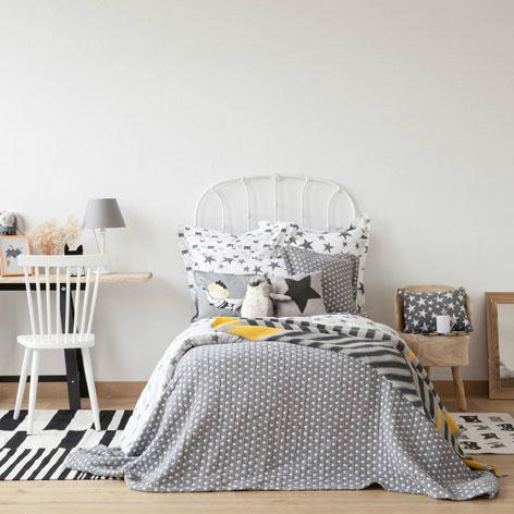 Gray Boys' Room Idea with stripes