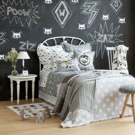 Βlackboard Gray Boys' Room Ideas
