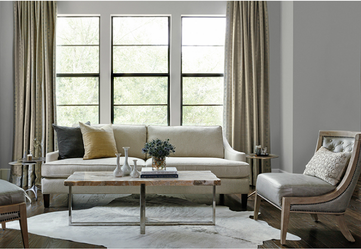 high fashion home gray wall living room idea 68