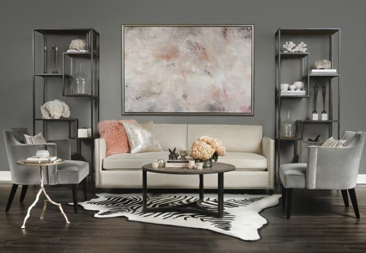 Stunning Furniture Marvelous Pink White Living Room Ideas 50