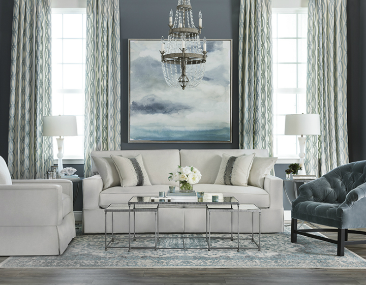 ... High Fashion Home Gray Walls White Sofa Living Room ... Part 62
