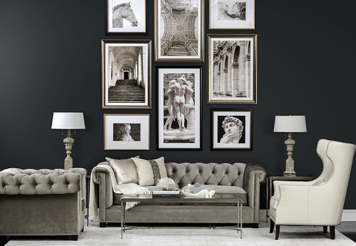 high fashion home black gray living room idea 23