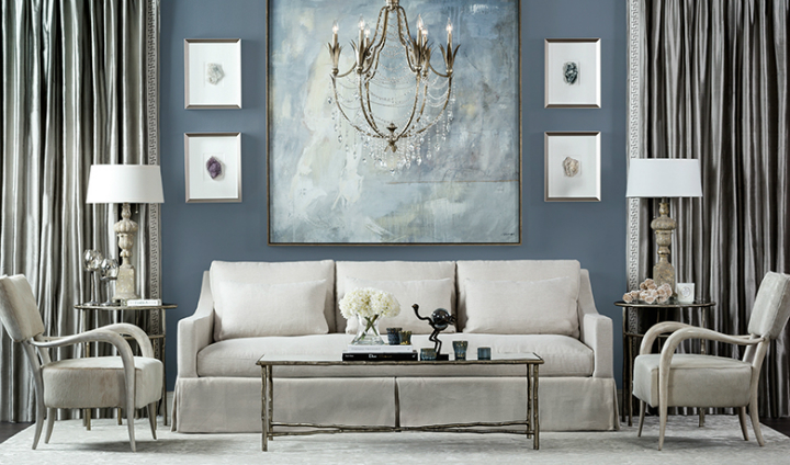high fashion home gray wall living room idea 35