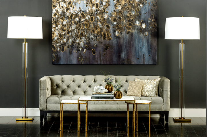 high fashion home gray wall living room idea 40