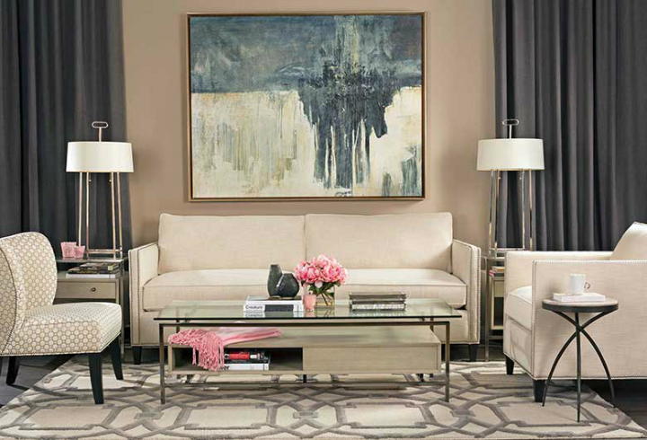 High Fashion Home Beige Wall Living Room Idea 44