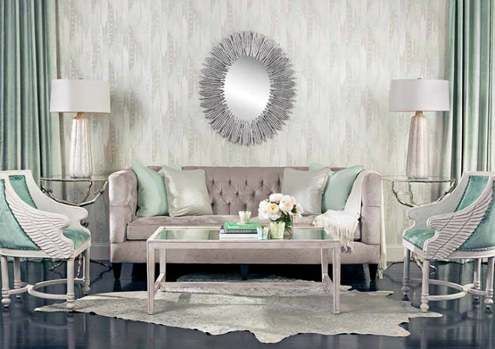 high fashion home gray wall living room idea 45