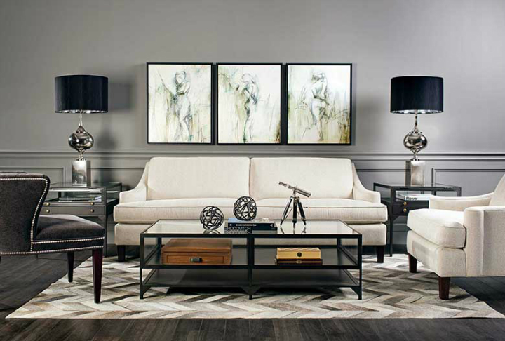 high fashion home gray wall living room idea 48