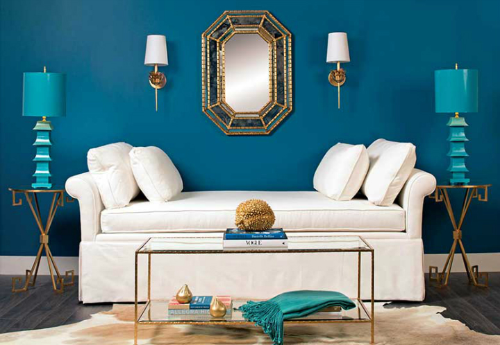 high fashion home blue wall living room idea 51