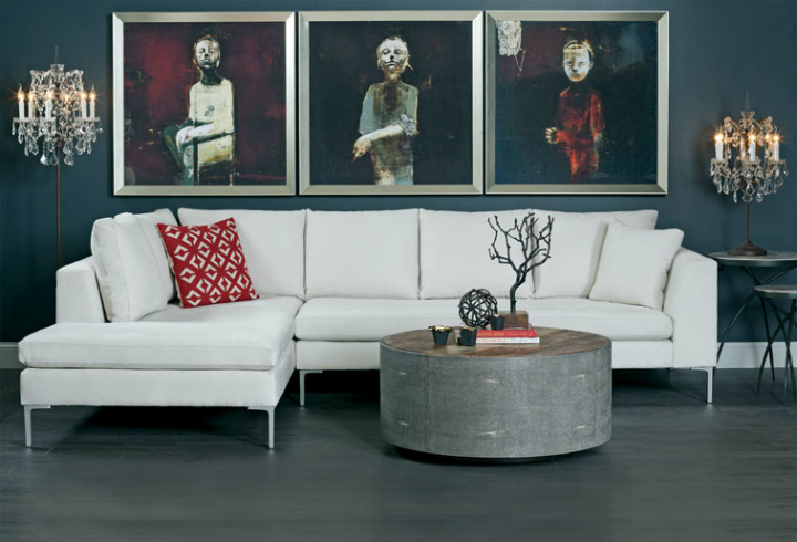 high fashion home gray wall living room idea 53