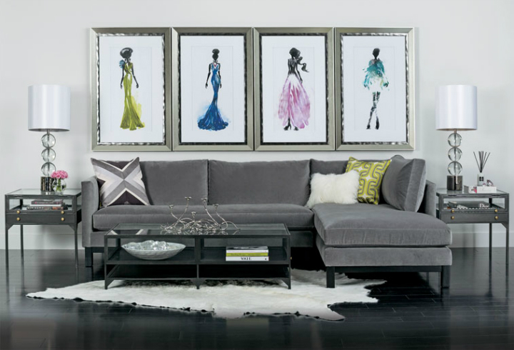 high fashion home gray wall living room idea 54