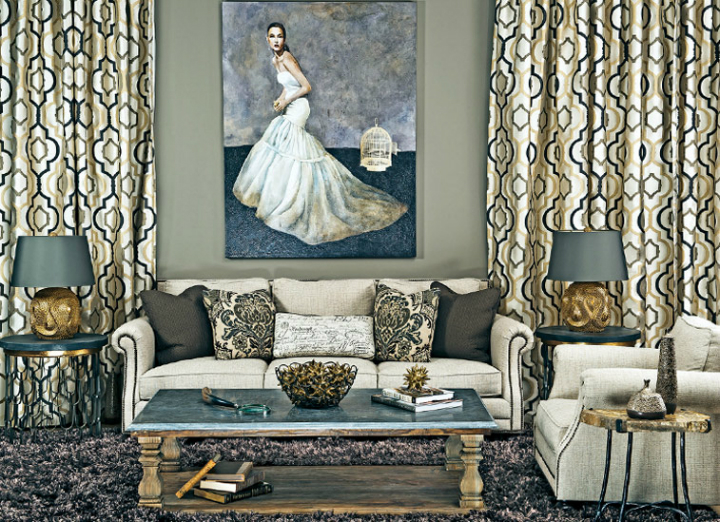 high fashion home gray wall living room idea 56