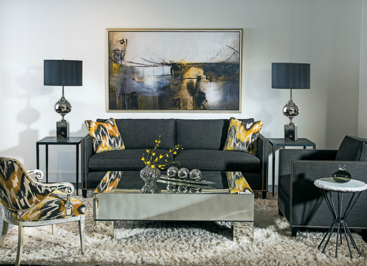 high fashion home gray wall living room idea 57