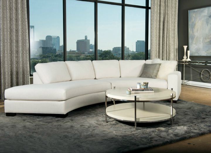 high fashion home oversized windows behind white sofa living room idea