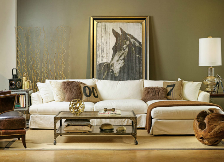 high fashion home gray wall living room idea 64