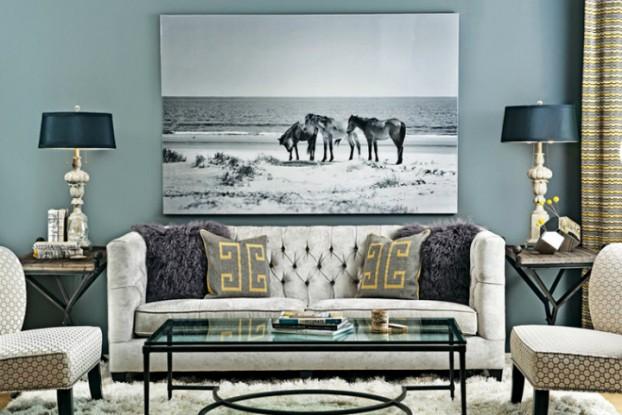 high fashion home gray wall living room idea 65