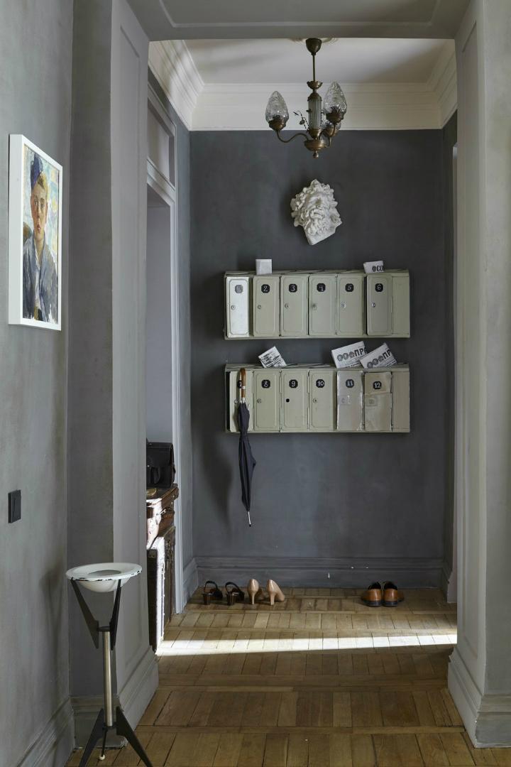 gray vintge entryway