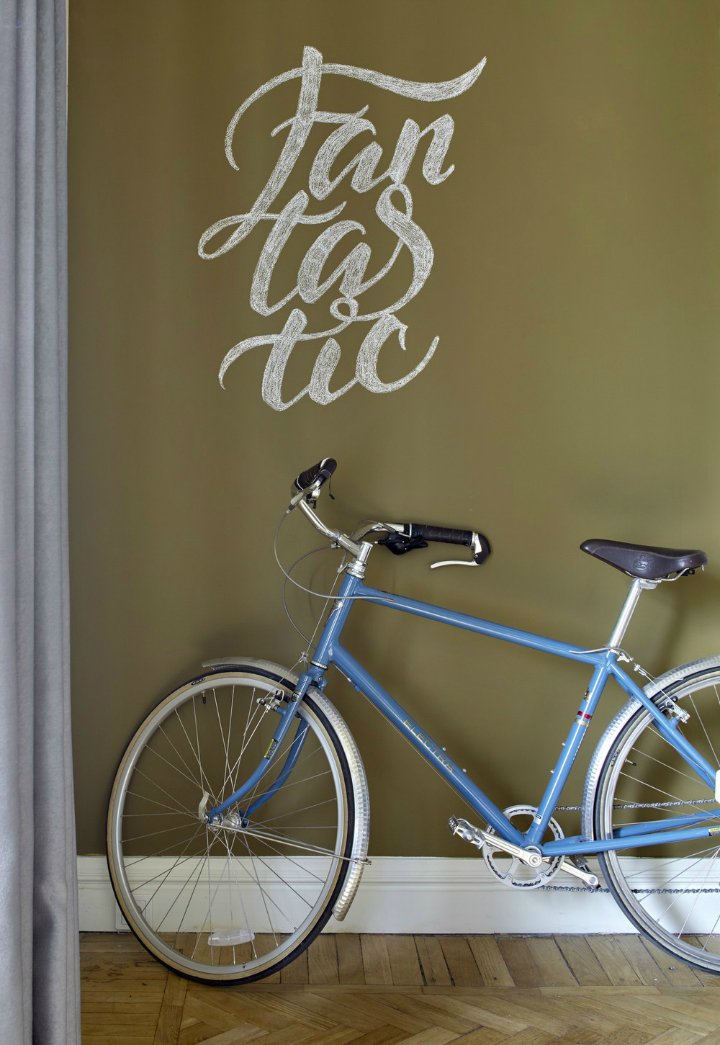 blue bicycle home decor