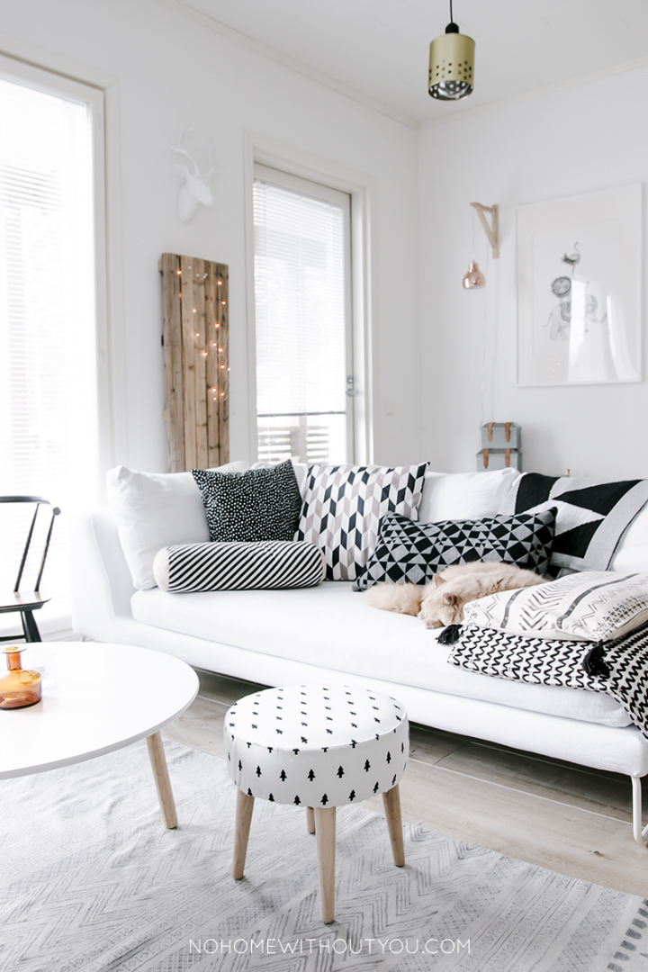 The coziest and loveliest home sweet home decoholic - Decoracion salon gris y blanco ...