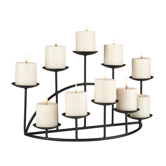10-Candle Metal Candelabra