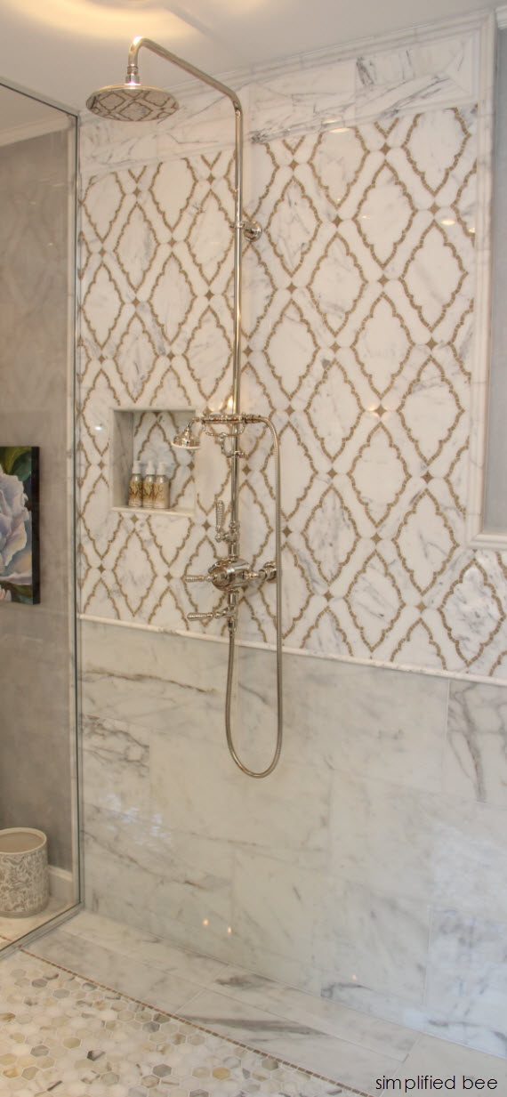 marble marrakesh style bathroom tile