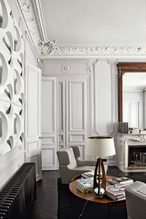 Gorgeous modern french interiors 40 pics decoholic Modern apartment interior design